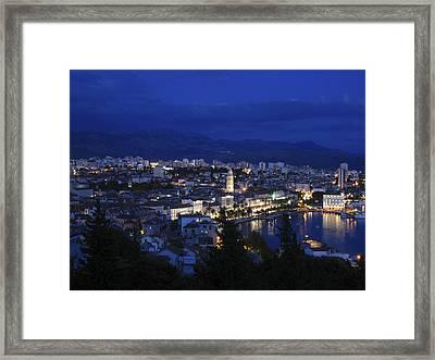 Framed Print featuring the photograph Split Croatia by David Gleeson
