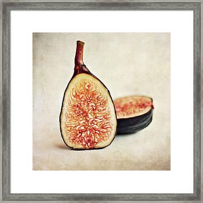 Split Fresh Figs Framed Print by Pamela N. Martin