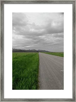 Split Line Framed Print by Roderick Bley