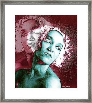 Split Personality Framed Print by Victor Habbick Visions