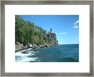 Framed Print featuring the photograph Split Rock by Bonfire Photography