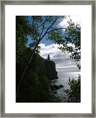 Framed Print featuring the photograph Split Rock II by Bonfire Photography