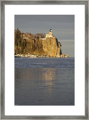 Split Rock Lighthouse On Lake Superior Framed Print by Susan Dykstra