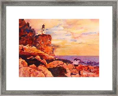 Split Rocks Golden Memories       Framed Print by Kathy Braud