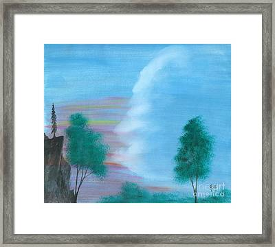 Split Sky Framed Print by Robert Meszaros