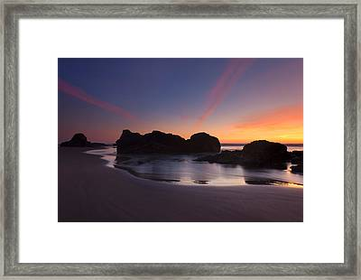 Splitting The Heavens Framed Print by Mike  Dawson