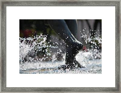 Framed Print featuring the photograph Sploosh by Stephanie Nuttall