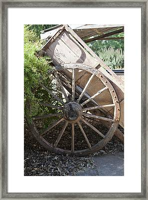 Framed Print featuring the photograph Spoked by Carole Hinding