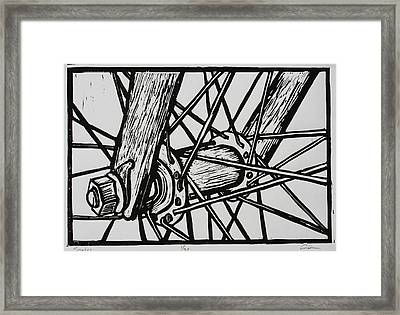 Spokes Framed Print by William Cauthern