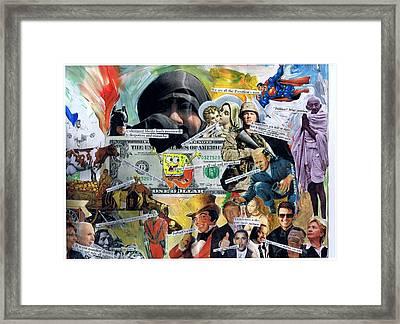 Sponge Bob Framed Print by Frank Zabohonski