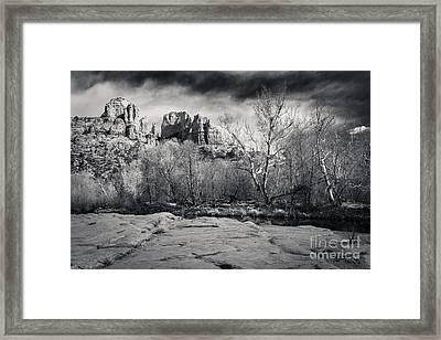 Spooky Castle Rock Framed Print