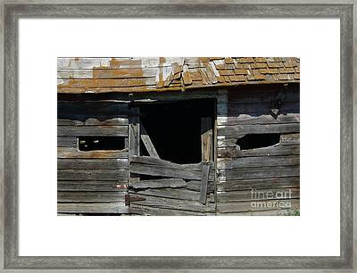 Framed Print featuring the photograph Spooky Face by Jim Sauchyn