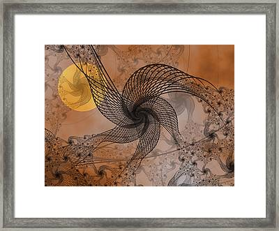 Spooky Moon 2 Framed Print by Pam Blackstone