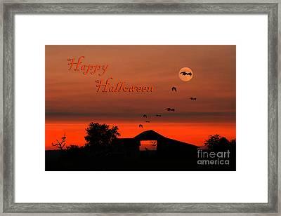 Spooky Night Framed Print