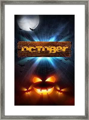 Spooky October Framed Print by Bill Tiepelman
