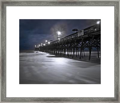 Spooky Pier Framed Print
