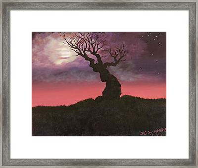 Spooky Tree Framed Print
