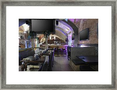 Sports Bar And Restaurant Interior Framed Print by Magomed Magomedagaev