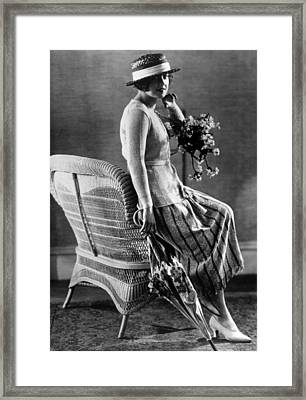 Sports Costume For Summer, Circa 1922 Framed Print by Everett