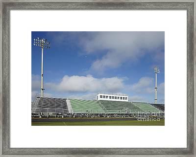 Sports Field Framed Print by Skip Nall