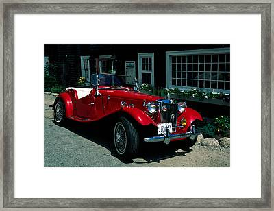Sporty Framed Print by Sally Weigand