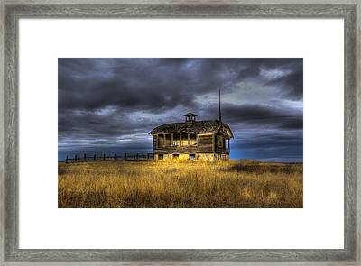 Spot On The School House Framed Print by Jean Noren