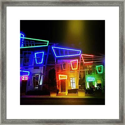 Spotlight Nightlife Framed Print by Amy DiPasquale