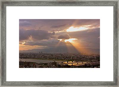 Spotlight On Osaka Framed Print by Jocelyn Kahawai