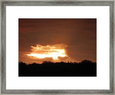 Spotlight Sunrise 2 Framed Print by Dennis Leatherman