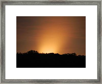 Spotlight Sunrise Framed Print by Dennis Leatherman