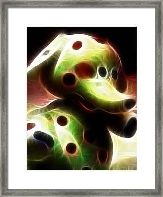 Spotted Elephant Framed Print