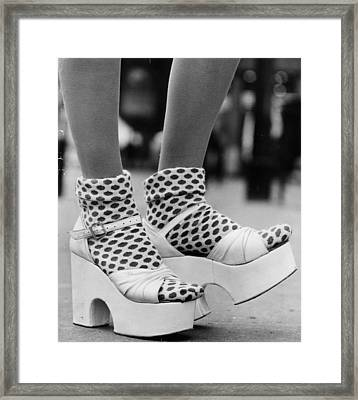 Spotty Socks Framed Print