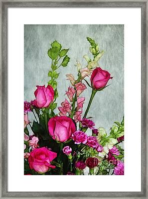 Spray Of Flowers Framed Print by Judi Bagwell