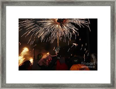 Spray Of Sparks Framed Print by Agusti Pardo Rossello