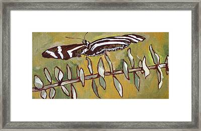 Spreading Your Wings Framed Print by Sandy Tracey