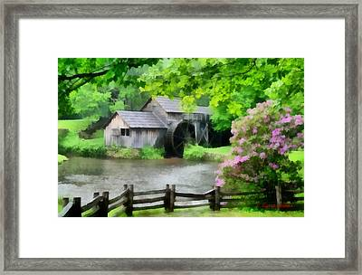 Spring At Mabry Mill Framed Print by Lynne Jenkins