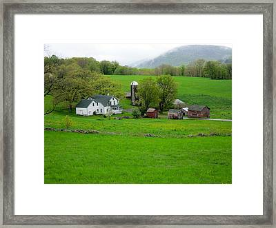 Spring At Mosemans Farm Framed Print