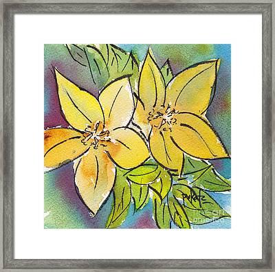 Spring Blooming Yellow Framed Print by Pat Katz