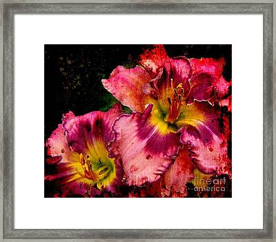 Framed Print featuring the photograph Spring Blooms by Davandra Cribbie
