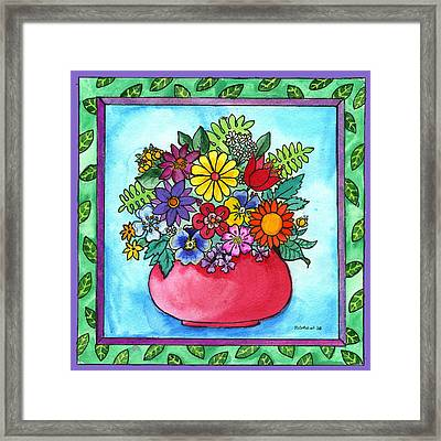 Spring Bouquet Framed Print by Pamela  Corwin