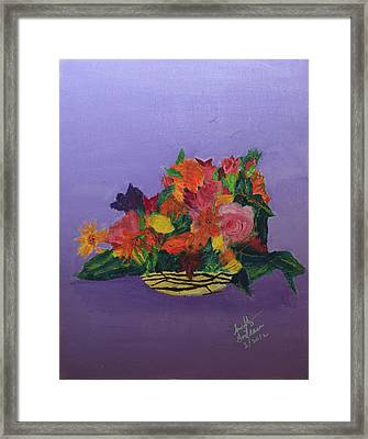 Framed Print featuring the painting Spring Bouquet by Swabby Soileau