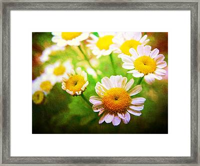 Spring Bouquets Framed Print by Leah Moore