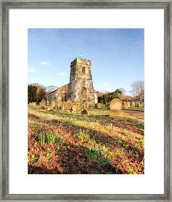 Spring Churchyard Framed Print by Sarah Couzens