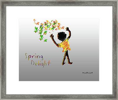 Framed Print featuring the digital art Spring Delight by Asok Mukhopadhyay