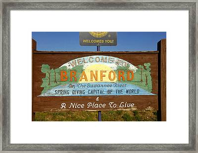 Spring Diving Capital Of The World Framed Print