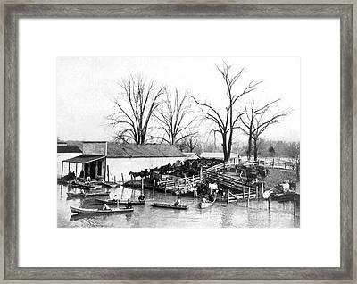 Spring Flood, 1903 Framed Print by Science Source