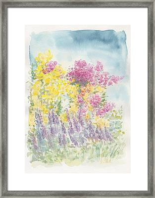 Framed Print featuring the painting Spring Garden by Jane  See