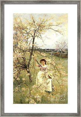 Spring Framed Print by Henry George Todd