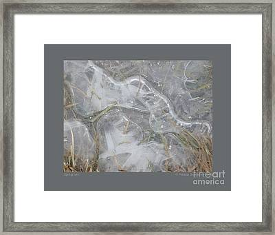 Framed Print featuring the photograph Spring Ice-i by Patricia Overmoyer