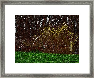 Spring In The Country Framed Print by Debra     Vatalaro